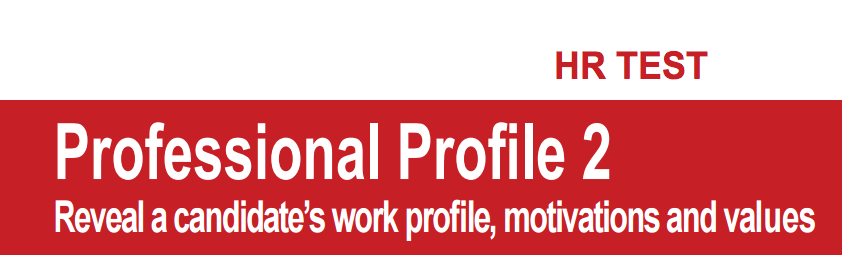 personality job test online professional profile questionnaire